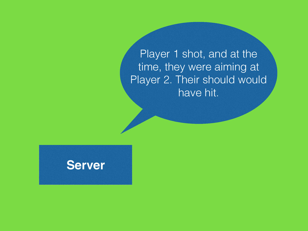 Server Player 1 shot, and at the time, they wer...