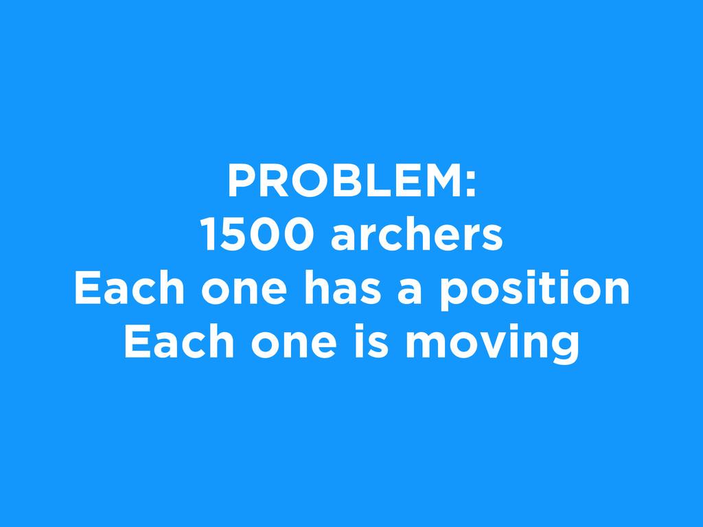 PROBLEM: 1500 archers Each one has a position E...