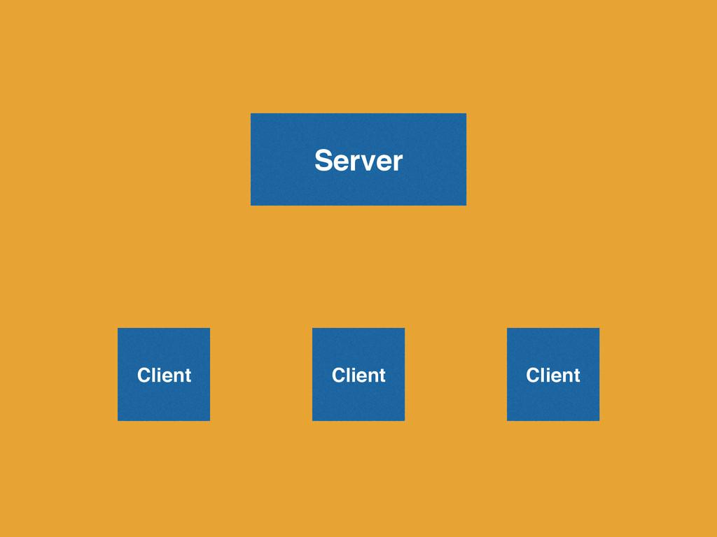 Server Client Client Client