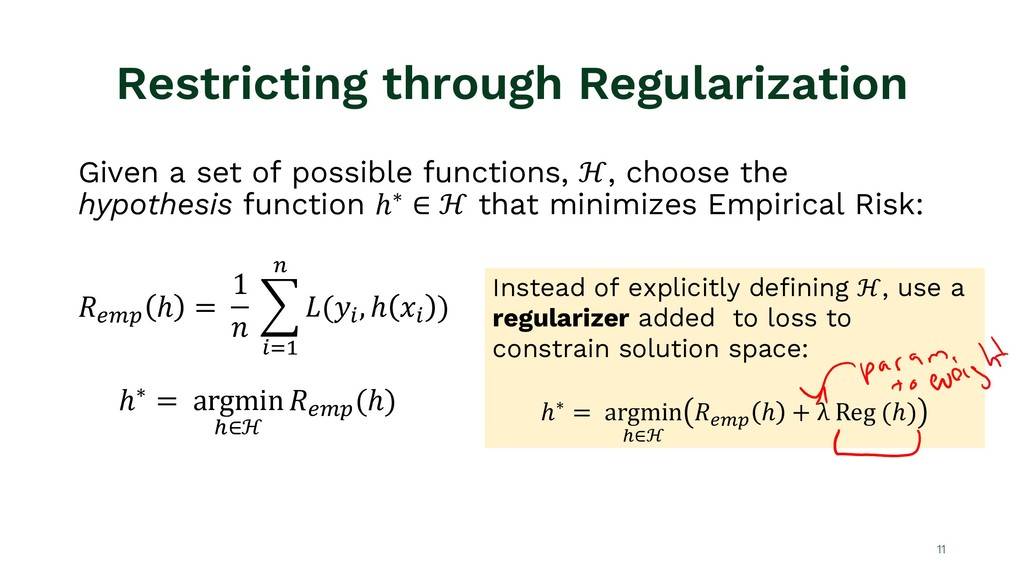 Restricting through Regularization 11 Given a s...
