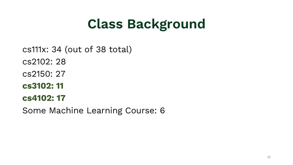 Class Background cs111x: 34 (out of 38 total) c...