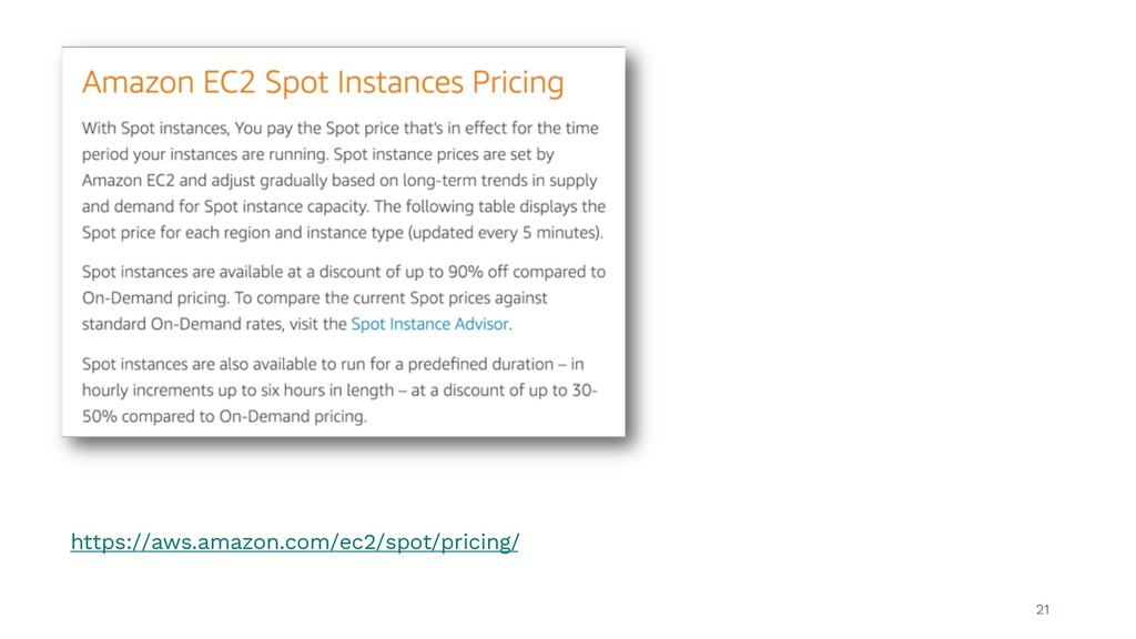 21 https://aws.amazon.com/ec2/spot/pricing/
