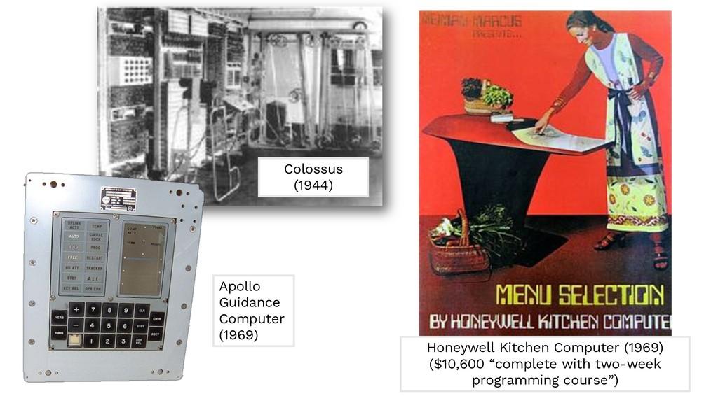 Colossus (1944) Apollo Guidance Computer (1969)...
