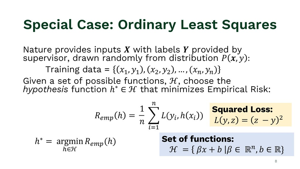 Special Case: Ordinary Least Squares Nature pro...
