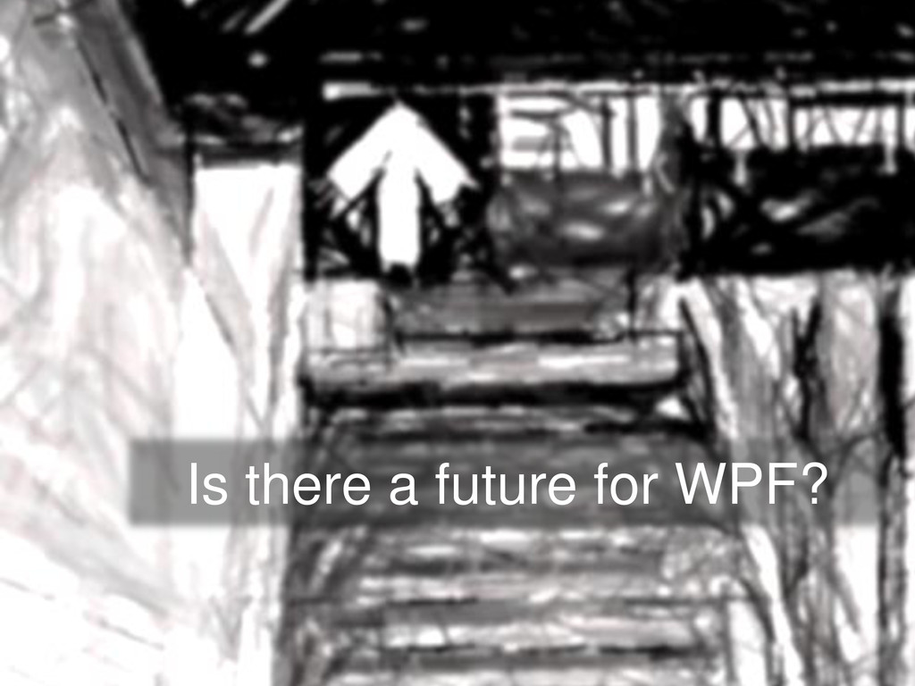 Is there a future for WPF?