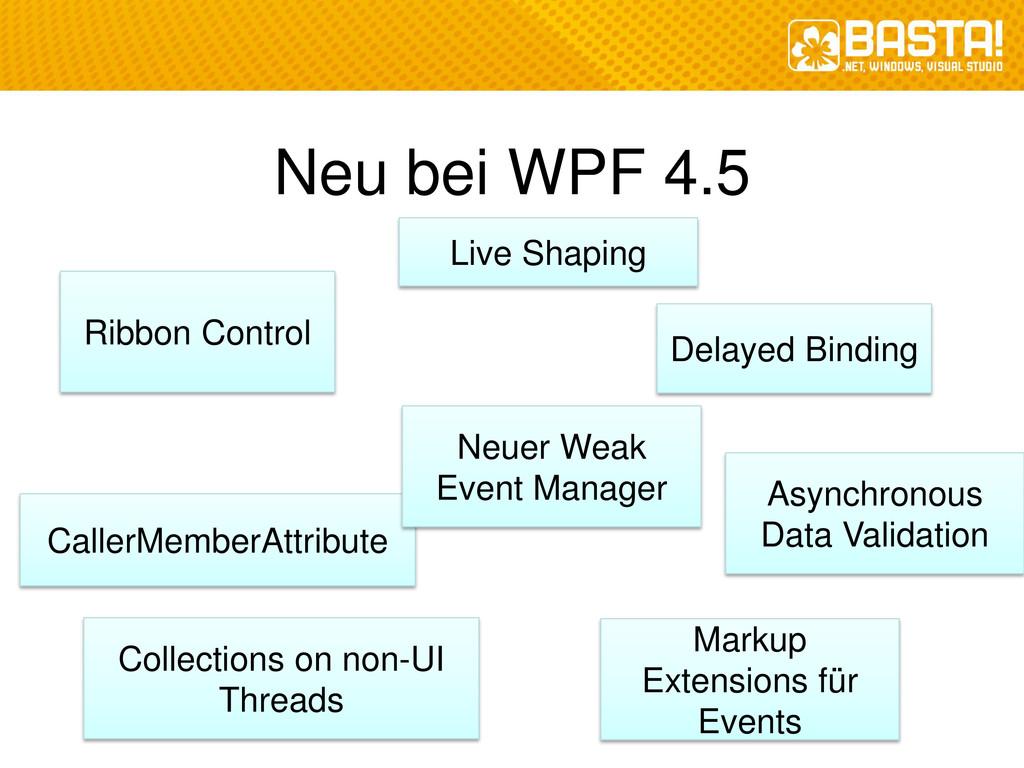 Neu bei WPF 4.5 Ribbon Control Delayed Binding ...
