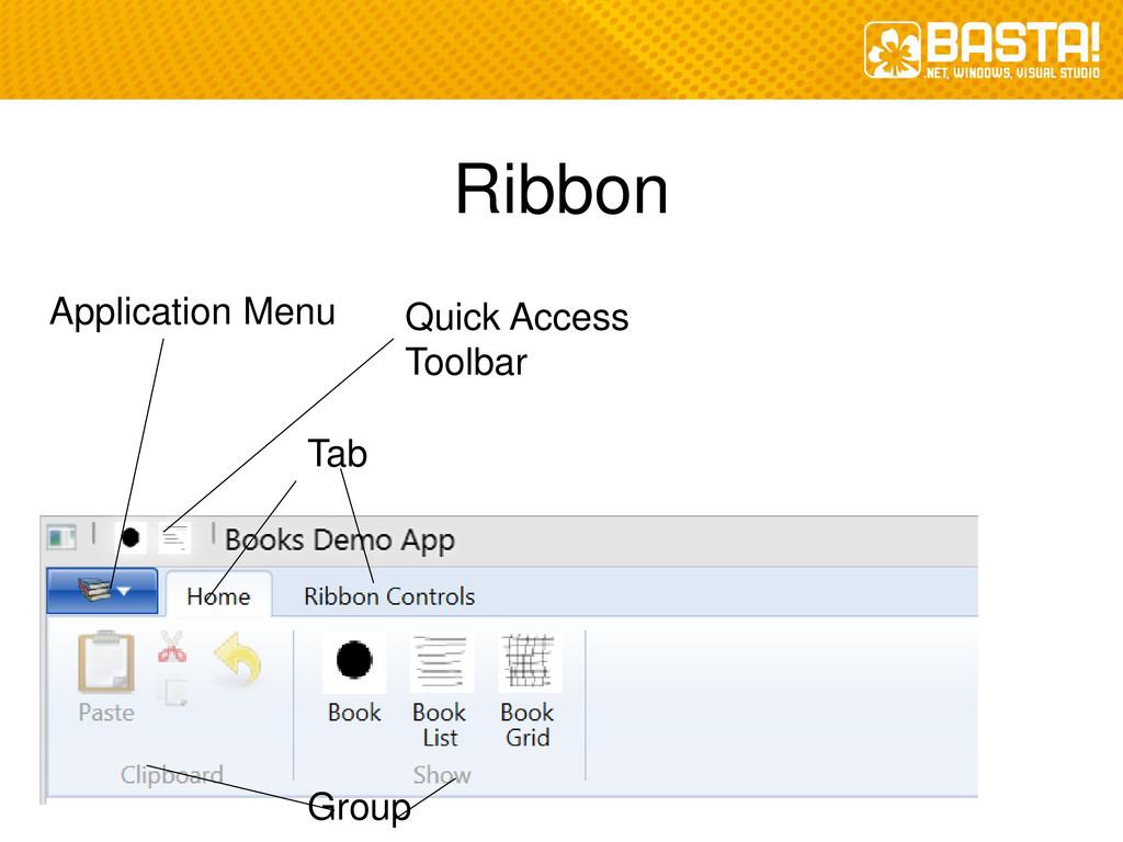 Ribbon Quick Access Toolbar Application Menu Ta...