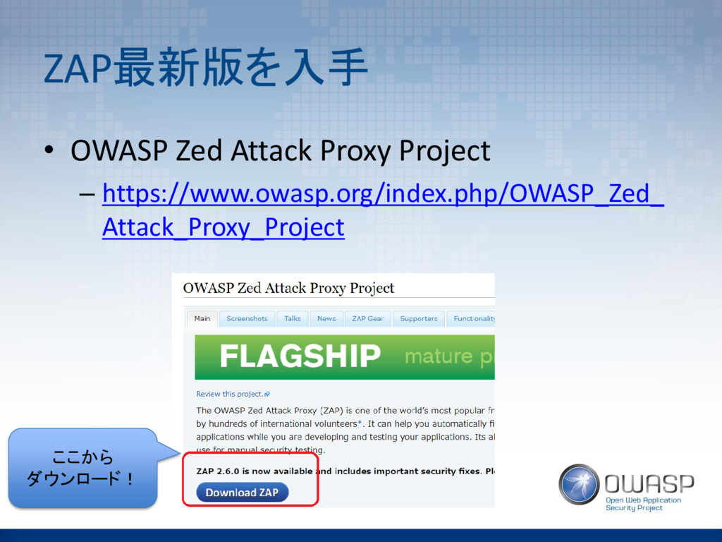ZAP最新版を入手 • OWASP Zed Attack Proxy Project – ht...