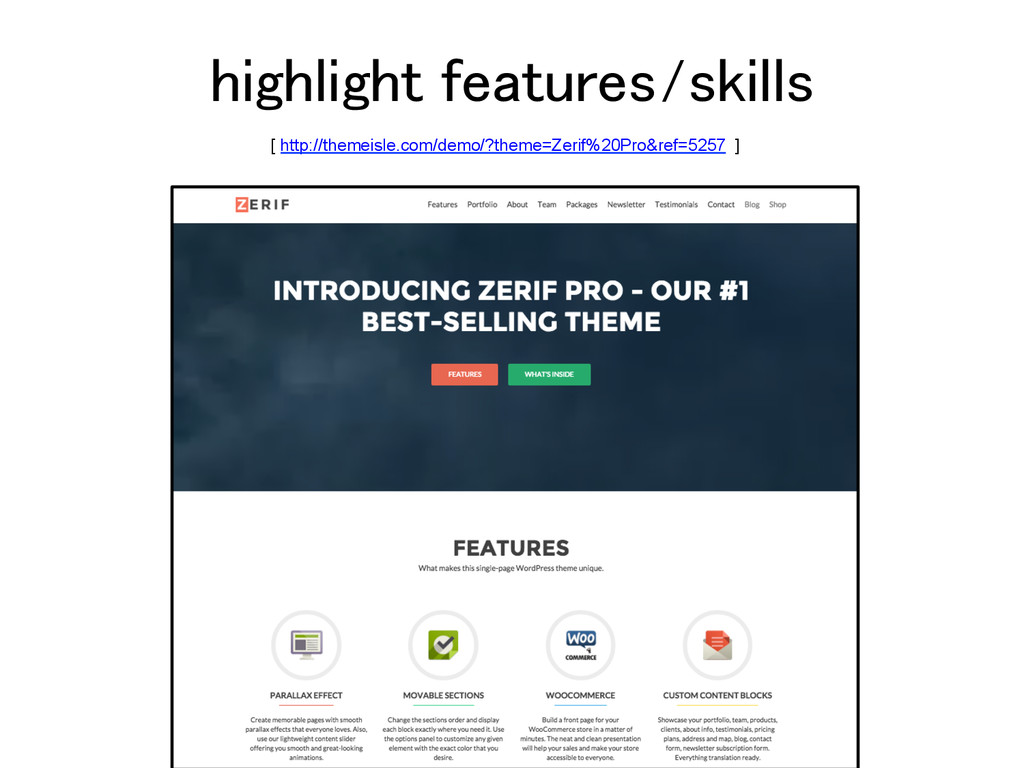 highlight features/skills! [ http://themeisle.c...