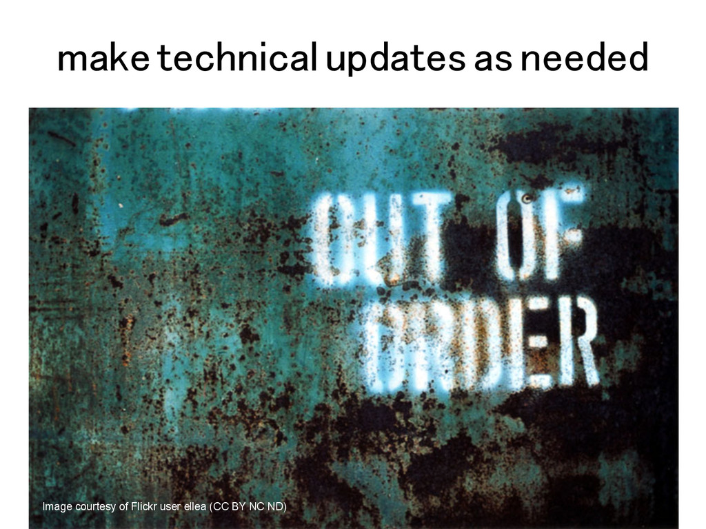 make technical updates as needed! Image courtes...