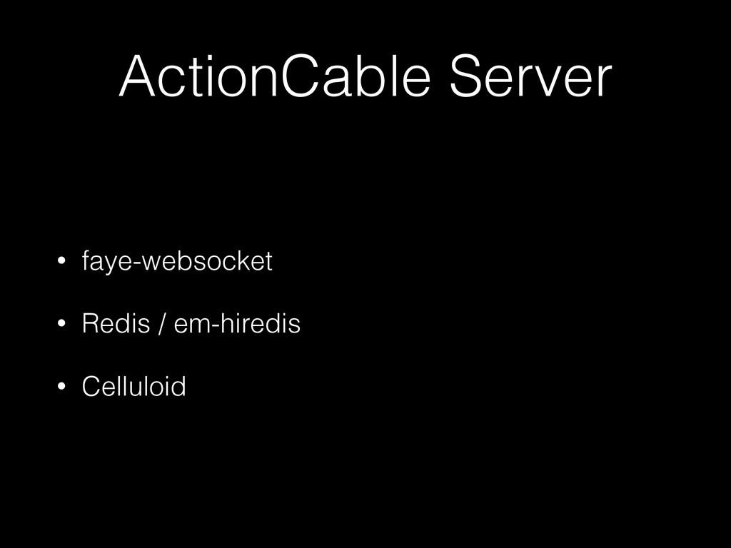 ActionCable Server • faye-websocket • Redis / e...