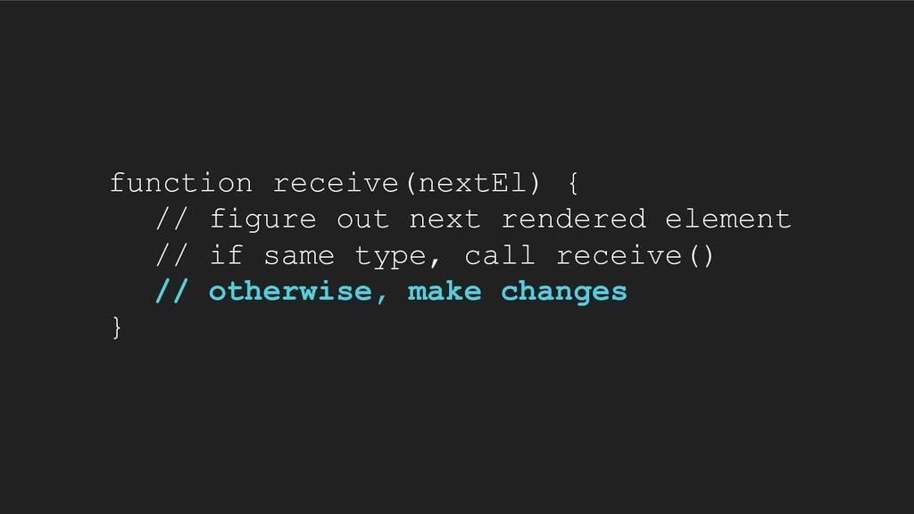 function receive(nextEl) { // figure out next r...