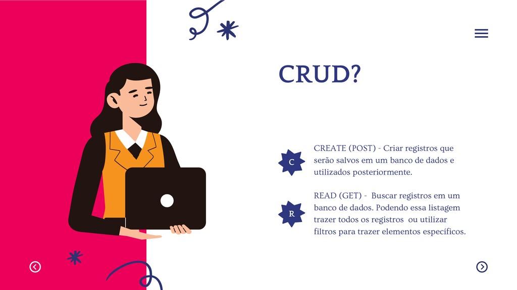 C R CRUD? CREATE (POST) - Criar registros que s...