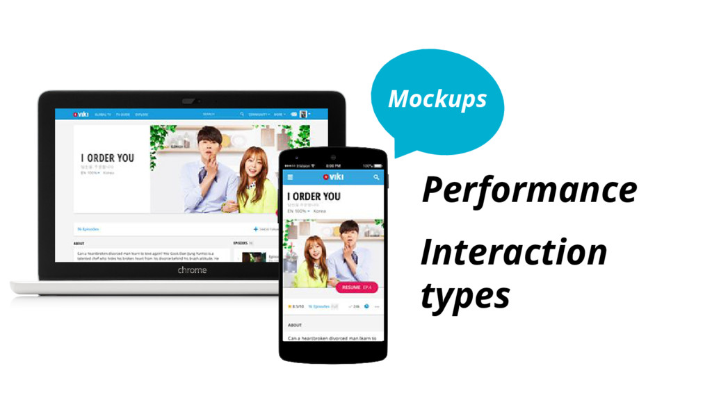 Mockups Performance Interaction types