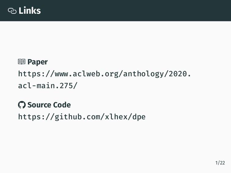  Links  Paper https://www.aclweb.org/antholog...