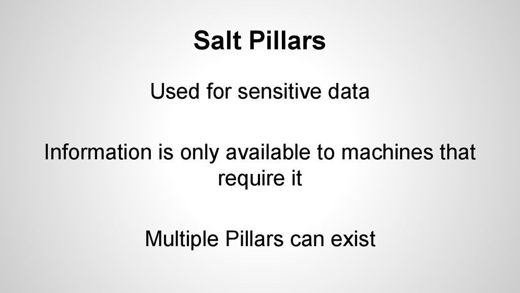 Salt Pillars Used for sensitive data Informatio...