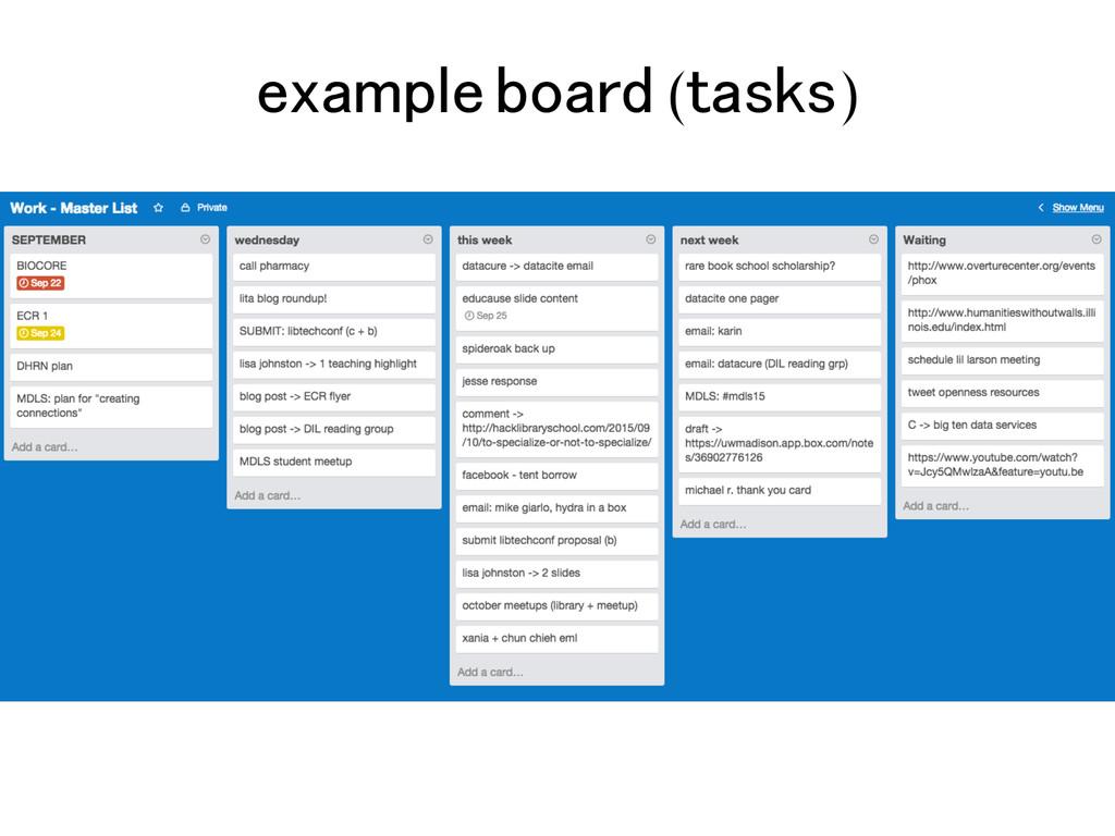 example board (tasks)!
