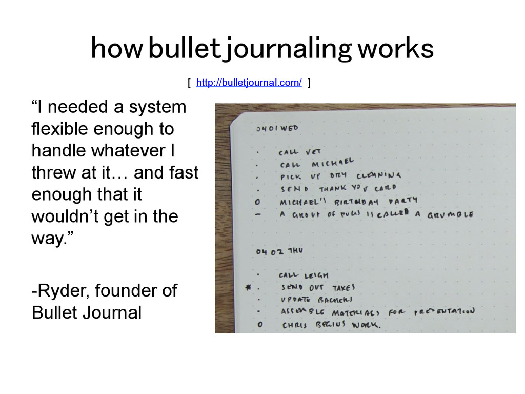 "how bullet journaling works! ""I needed a system..."