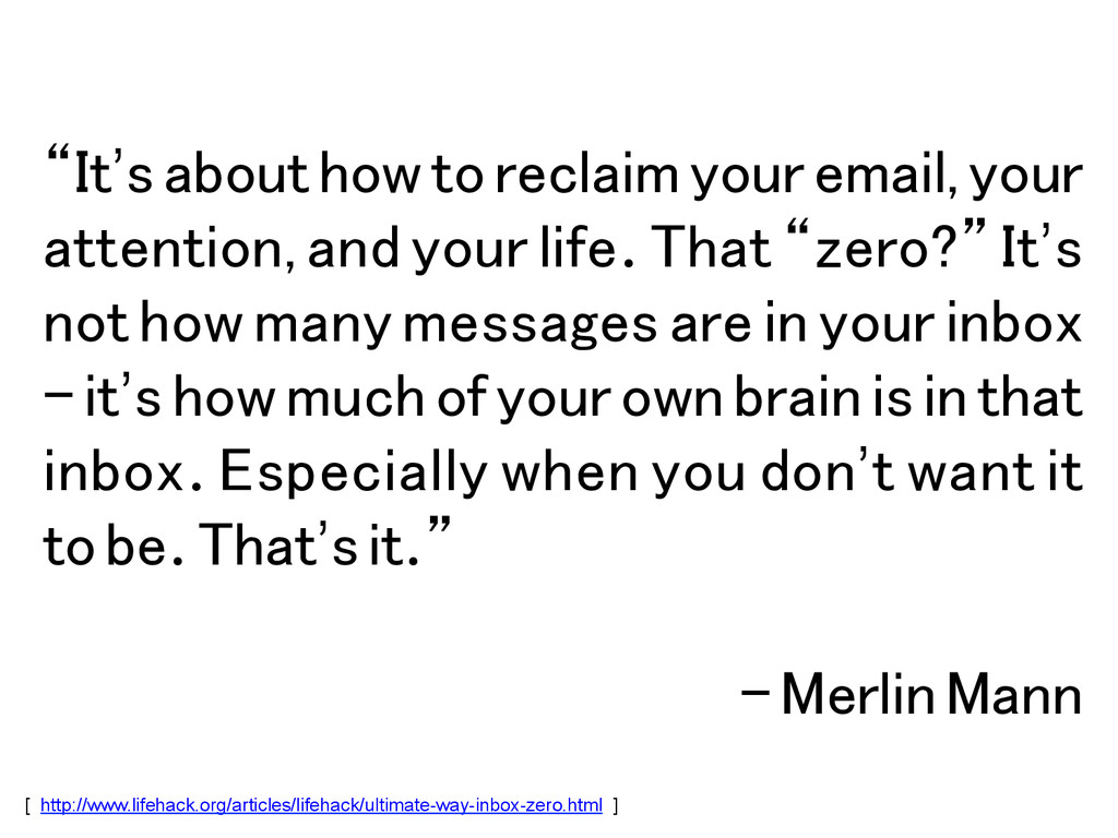 """It's about how to reclaim your email, your att..."