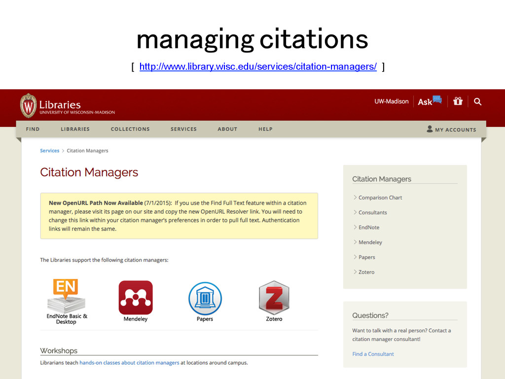 managing citations! [ http://www.library.wisc.e...