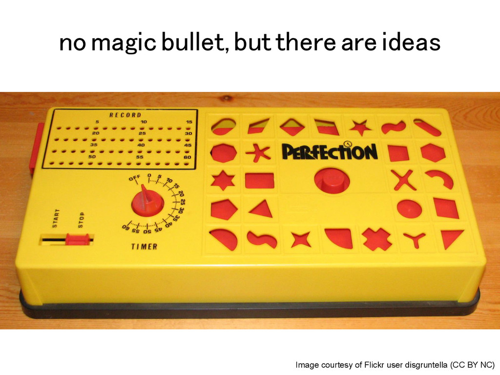 no magic bullet, but there are ideas! Image cou...