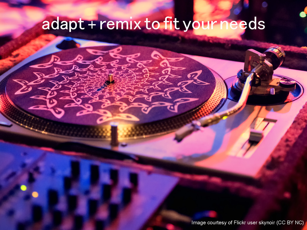 adapt + remix to fit your needs! Image courtesy...