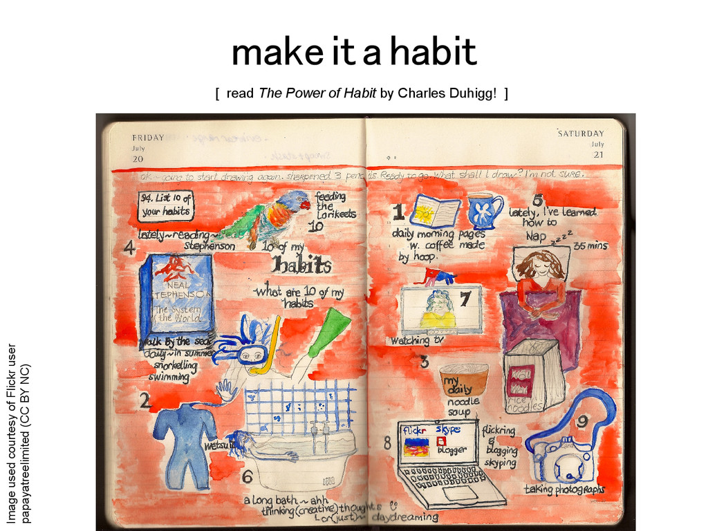 make it a habit! Image used courtesy of Flickr ...