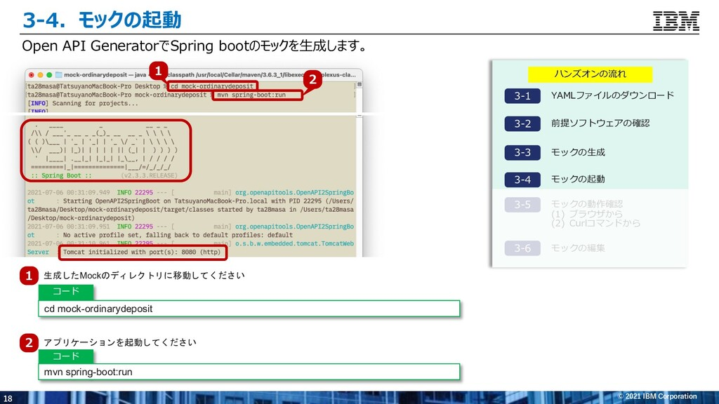 18 © 2021 IBM Corporation Open API GeneratorでSp...
