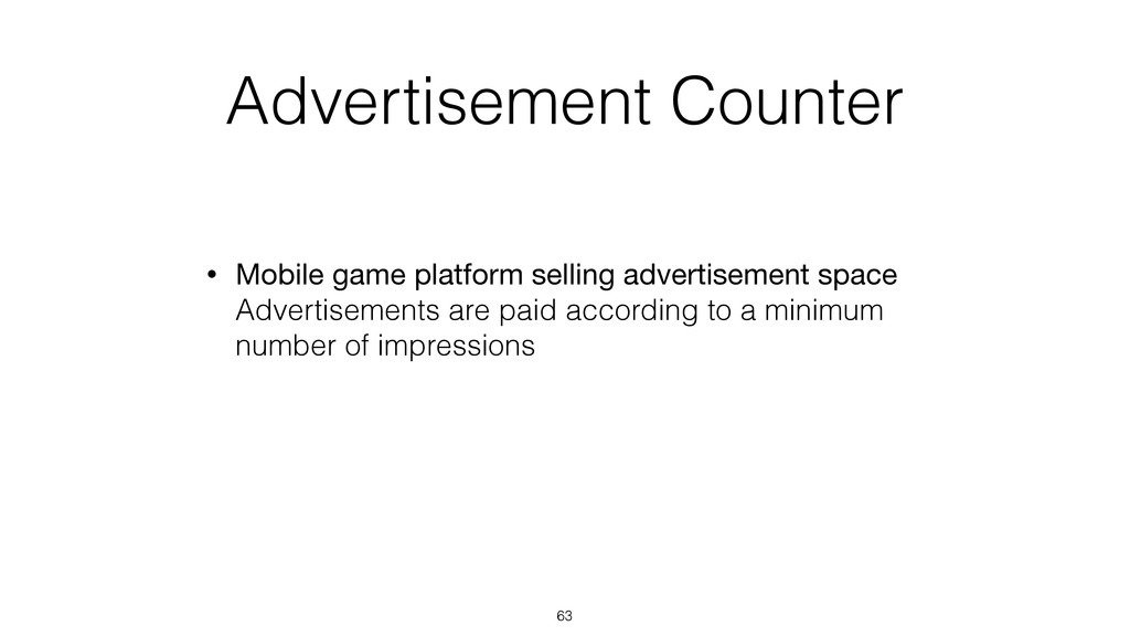 Advertisement Counter • Mobile game platform se...