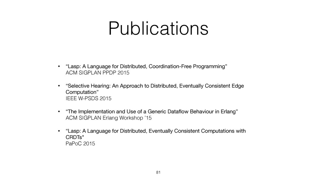 "Publications • ""Lasp: A Language for Distribute..."