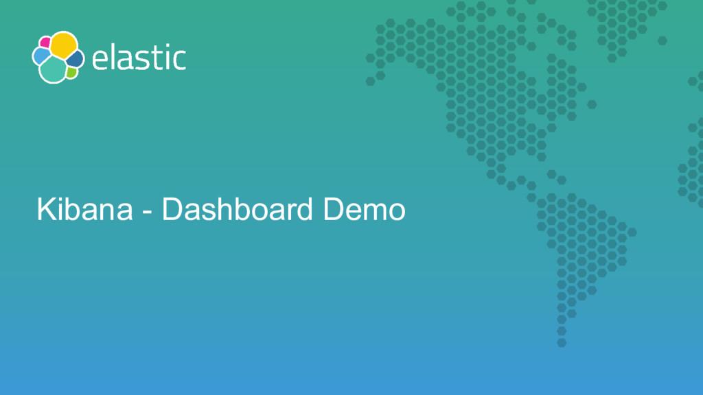 Kibana - Dashboard Demo