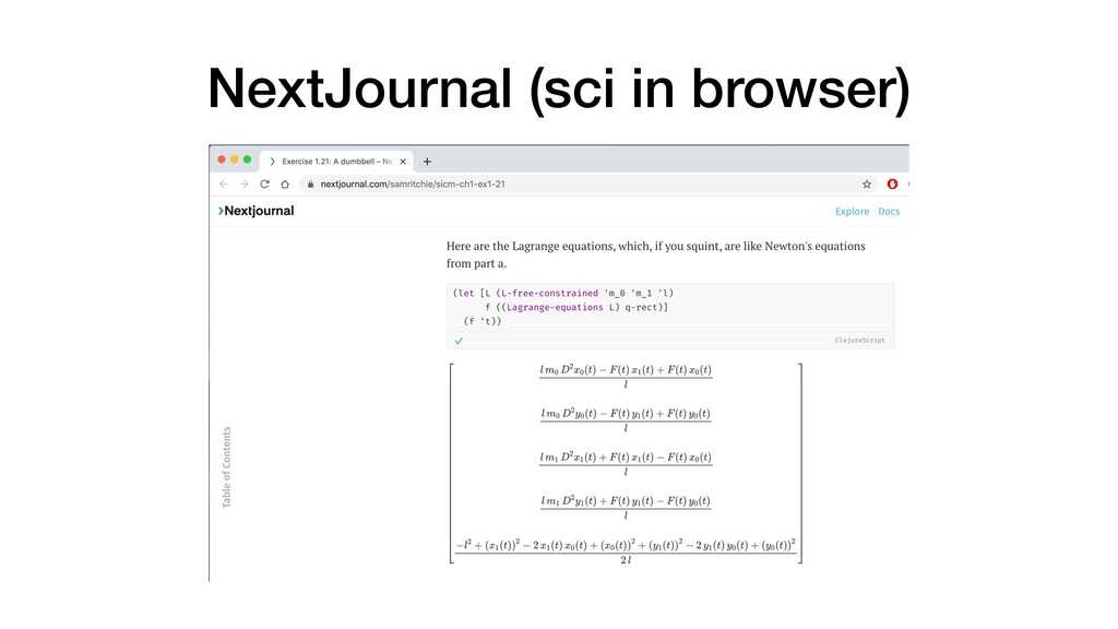 NextJournal (sci in browser)