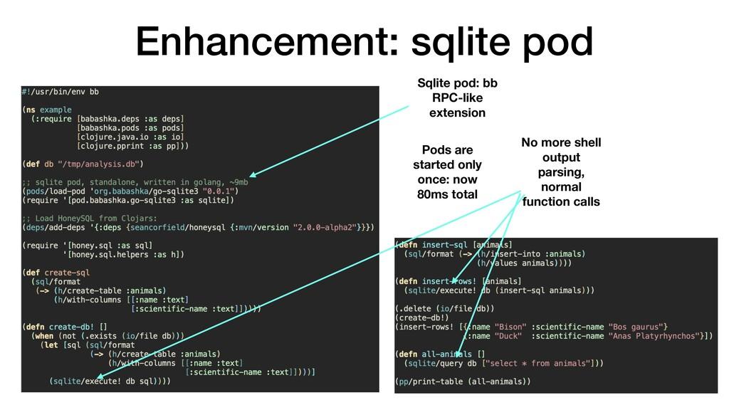 Enhancement: sqlite pod Sqlite pod: bb RPC-like...
