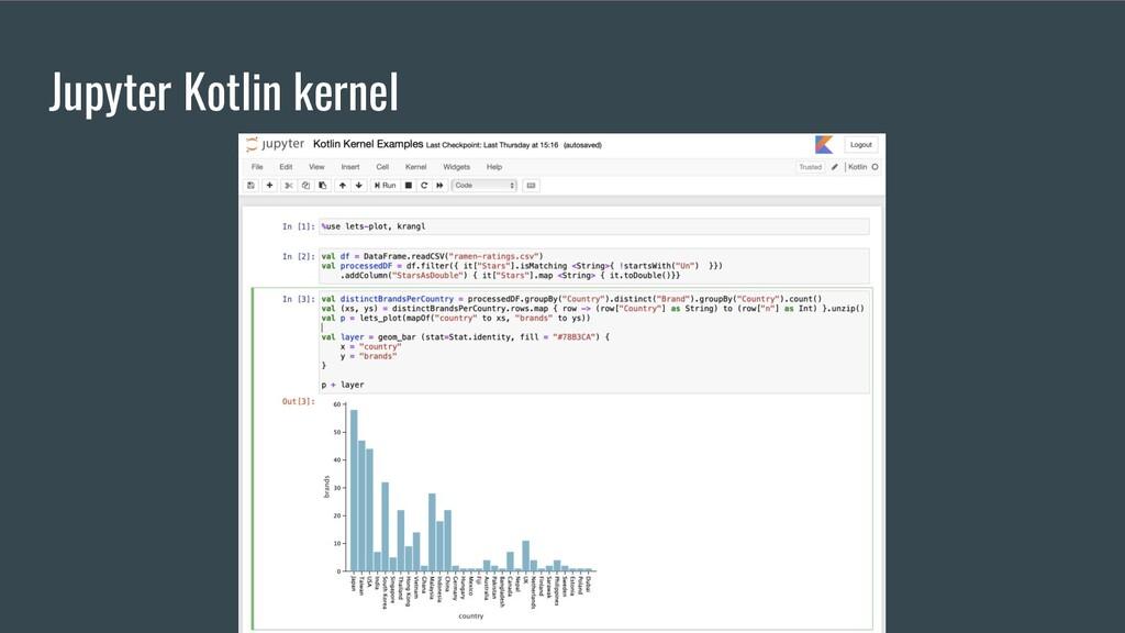 Jupyter Kotlin kernel