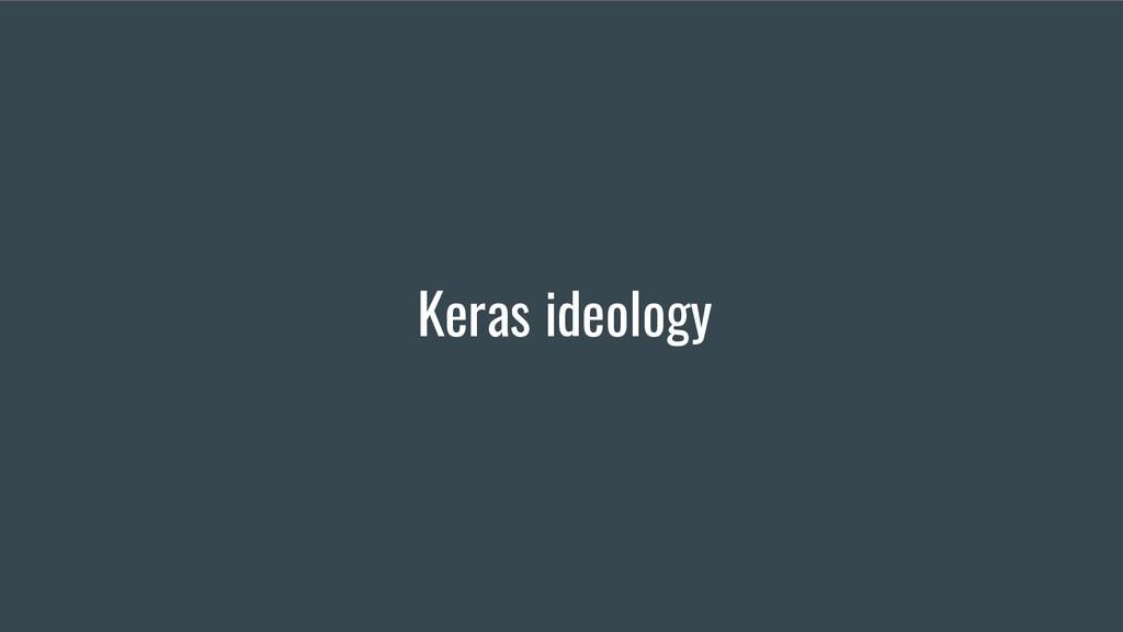 Keras ideology
