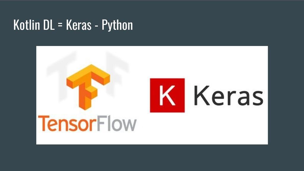 Kotlin DL = Keras - Python