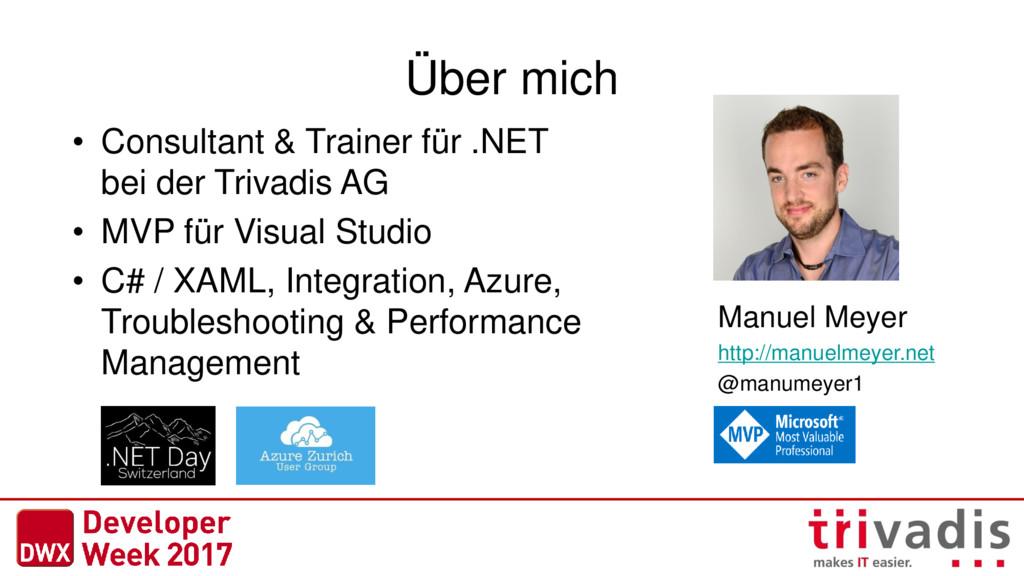 Über mich • Consultant & Trainer für .NET bei d...
