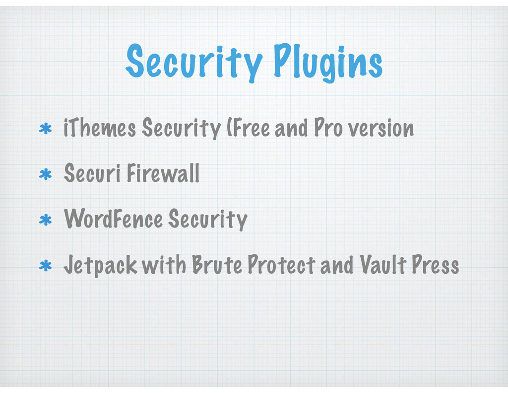 Security Plugins iThemes Security (Free and Pro...