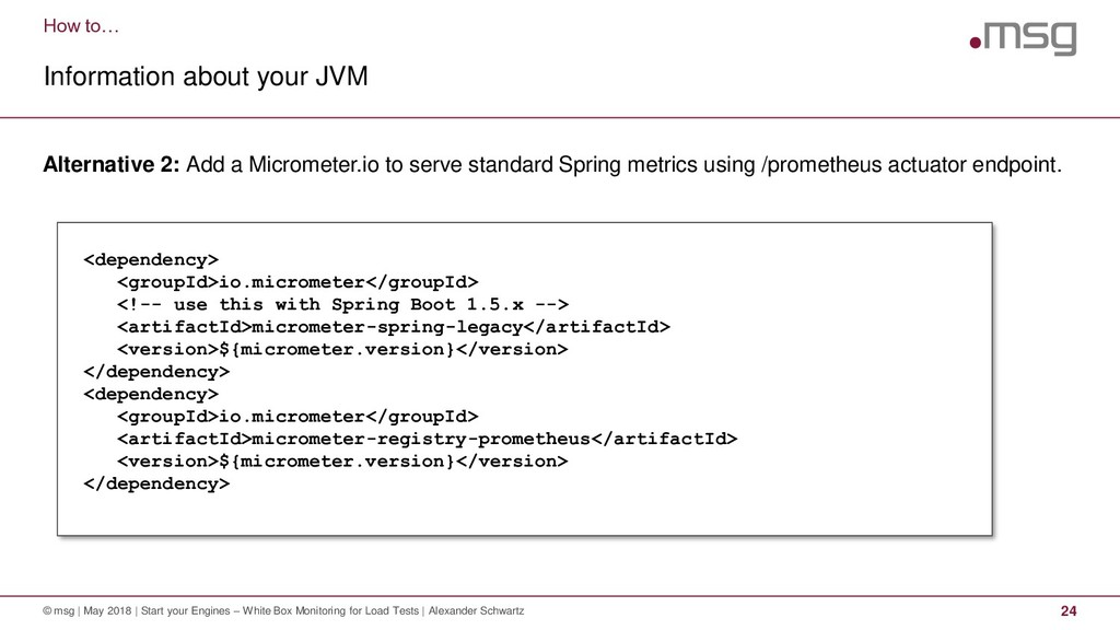 How to… Information about your JVM © msg | May ...