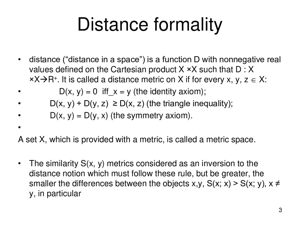 """Distance formality • distance (""""distance in a s..."""