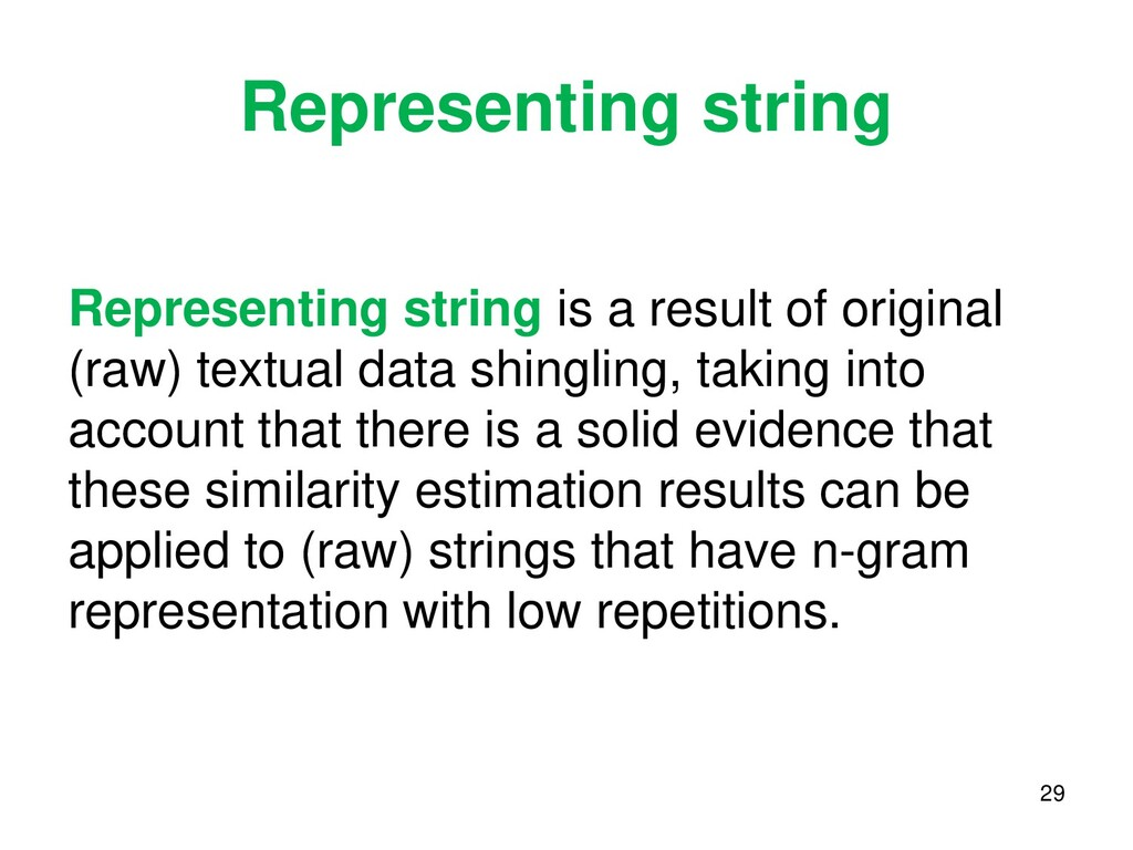 Representing string Representing string is a re...