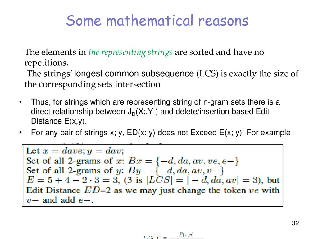 Some mathematical reasons • Thus, for strings w...