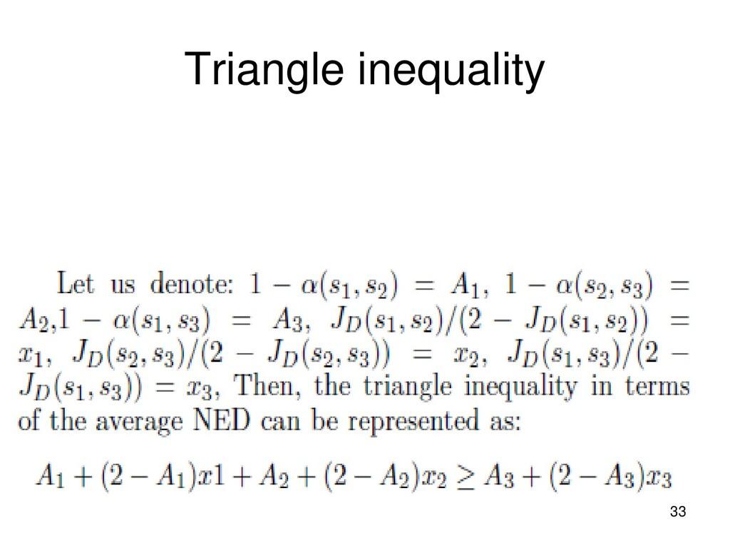 Triangle inequality 33