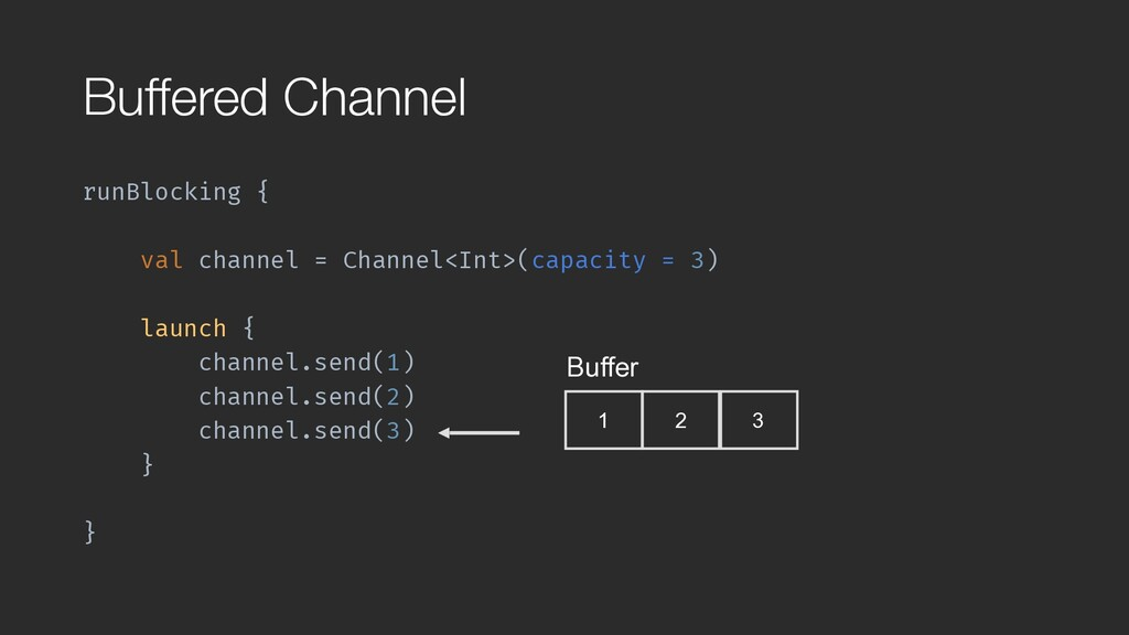 runBlocking { val channel = Channel<Int>(capaci...