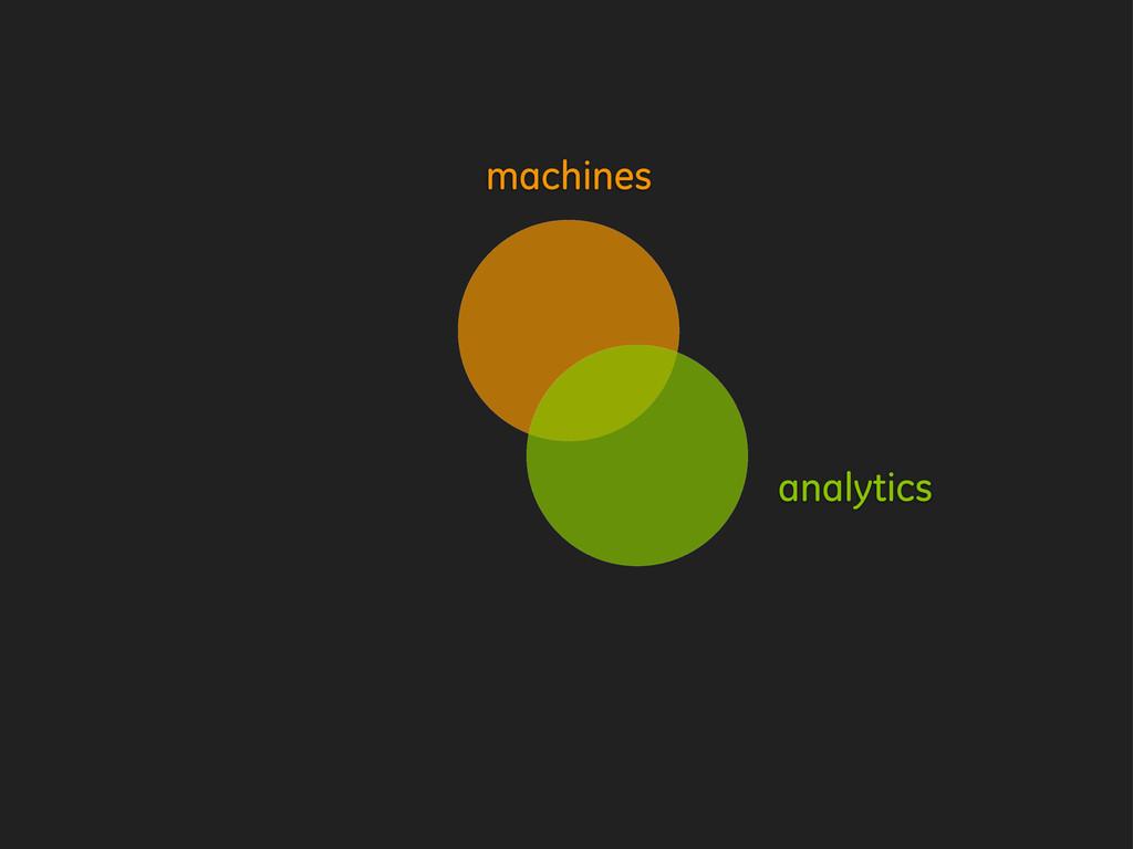 machines analytics