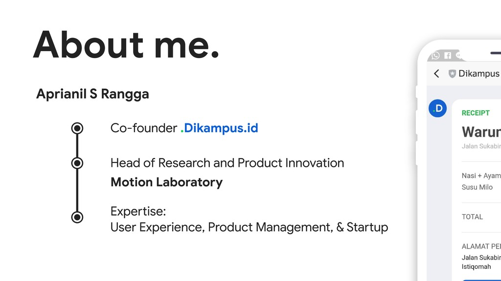 About me. .Dikampus.id Co-founder Head of Resea...