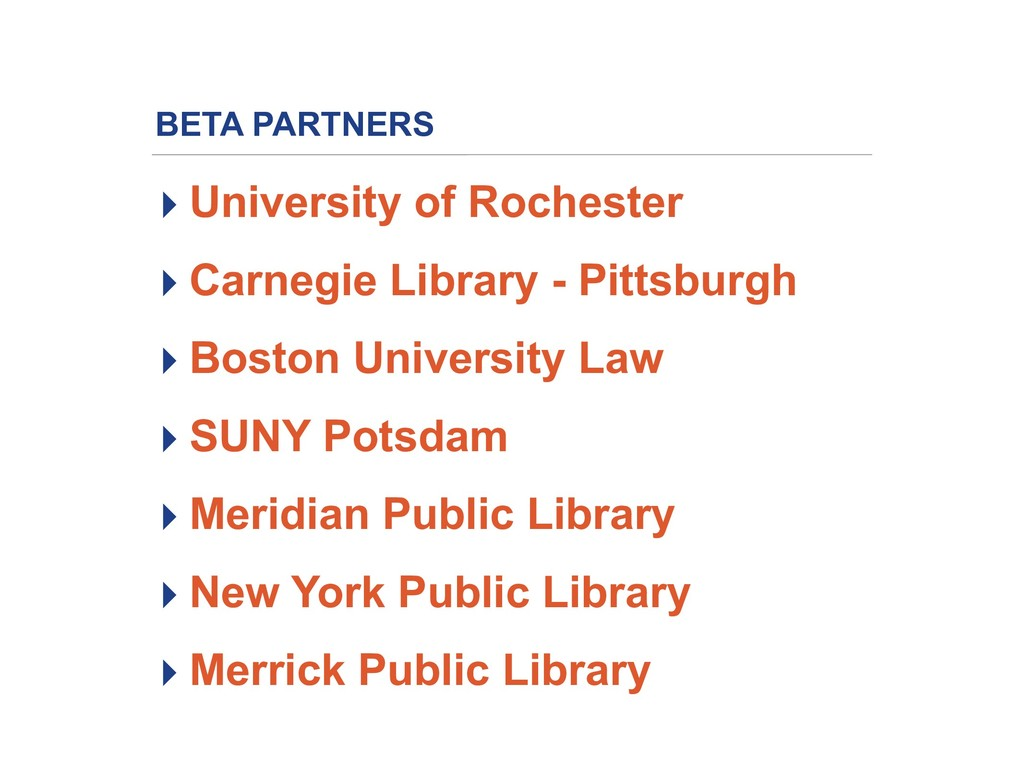 BETA PARTNERS ▸ University of Rochester ▸ Carne...