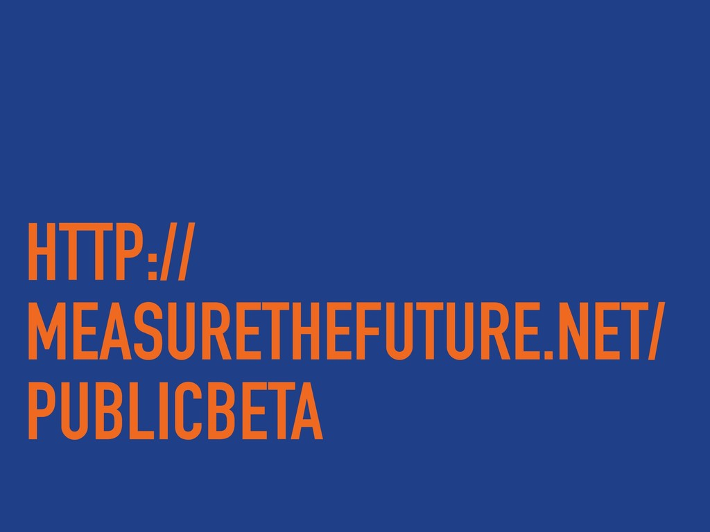 HTTP:// MEASURETHEFUTURE.NET/ PUBLICBETA