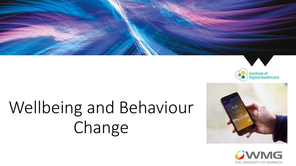 Wellbeing and Behaviour Change