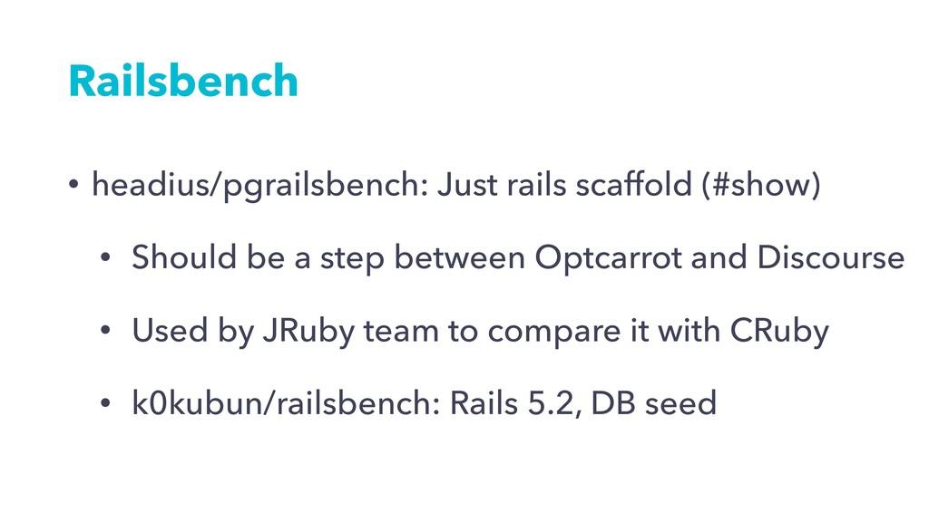 Railsbench • headius/pgrailsbench: Just rails s...